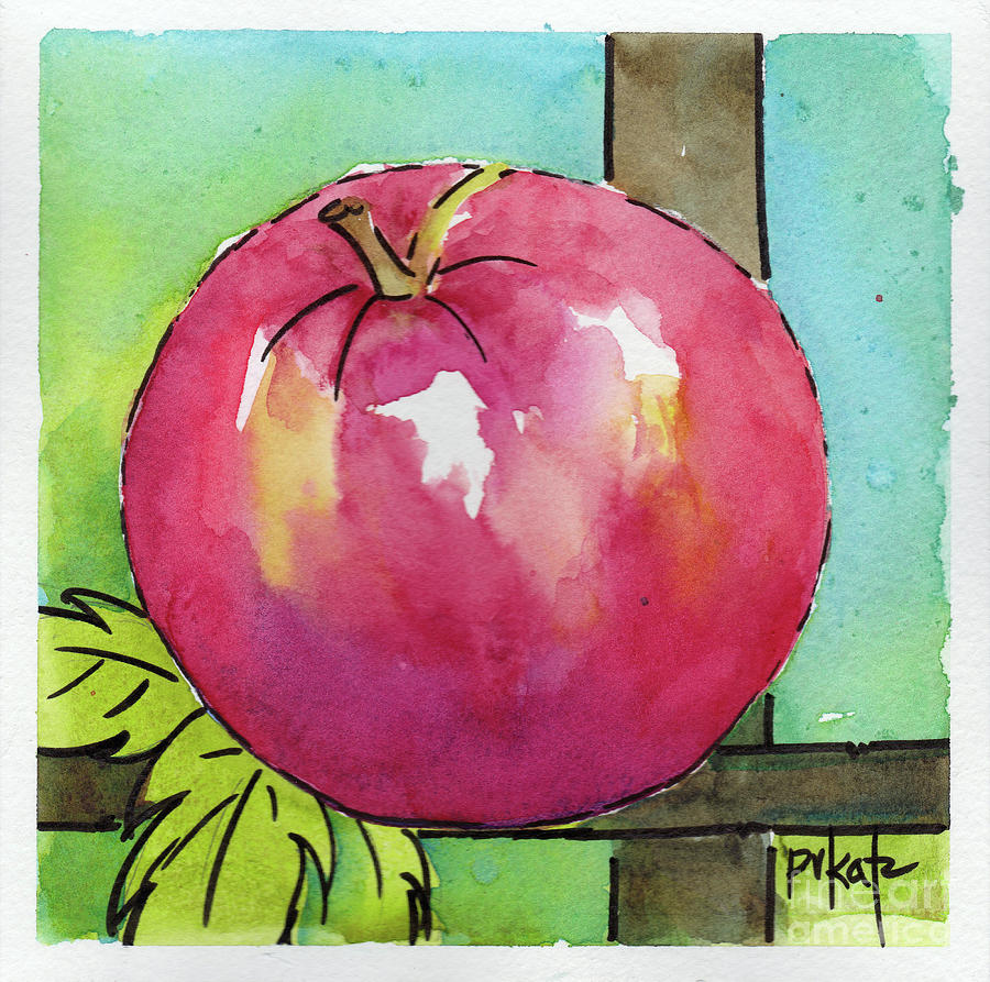 Apple 4- Trellis Strong Line by Pat Katz