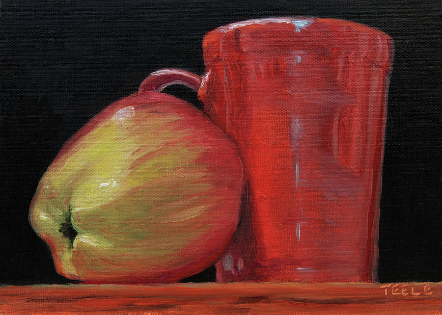 Apple and CCA Mug by Trina Teele