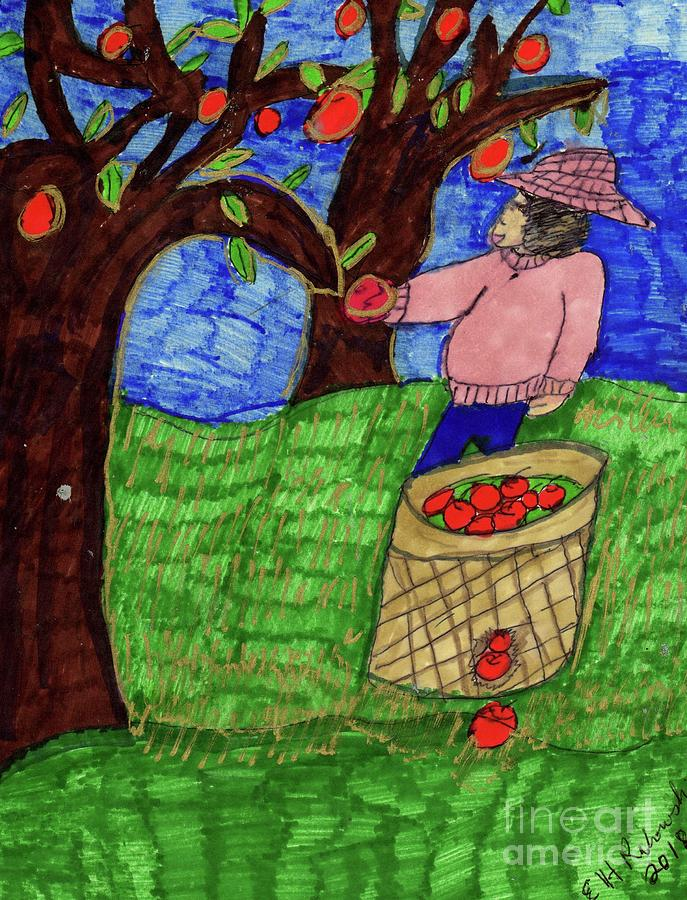 Apple Orchard Harvest  by Elinor Helen Rakowski