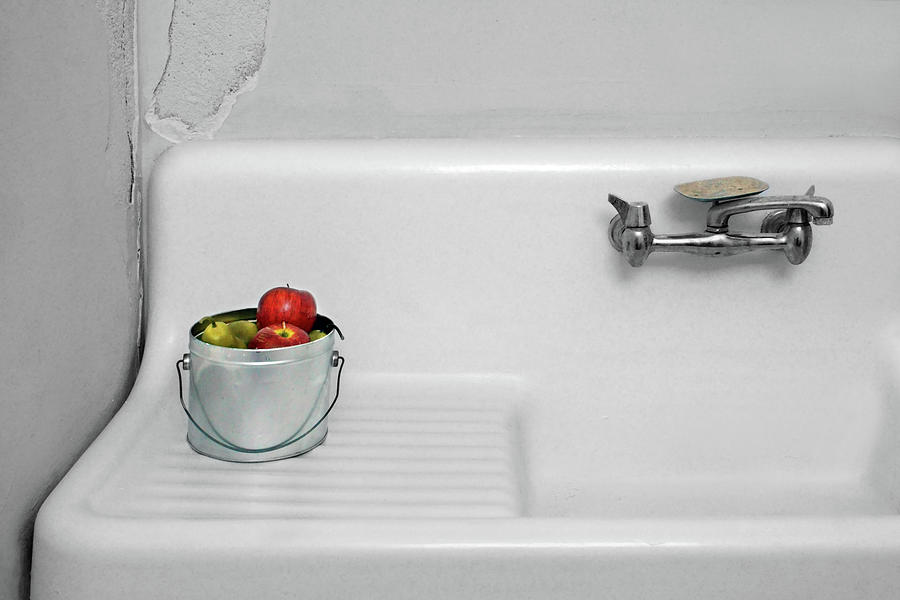 Minimalism Photograph - Apples And A Sink - No 2 by Nikolyn McDonald