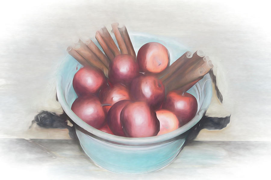 Apples and Cinnamon Sticks by Pamela Walton