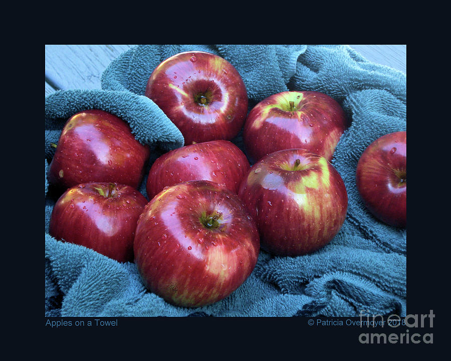 Apples on a Towel by Patricia Overmoyer