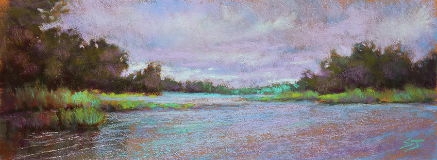 Florida Marsh Painting - Approaching Peace by Susan Jenkins