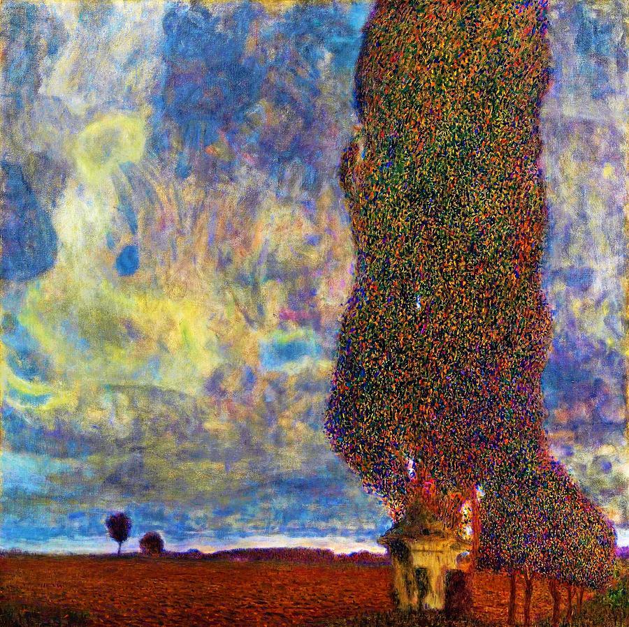 Gustav Klimt Painting - Approaching Thunderstorm,the Large Poplar II - Digital Remastered Edition by Gustav Klimt