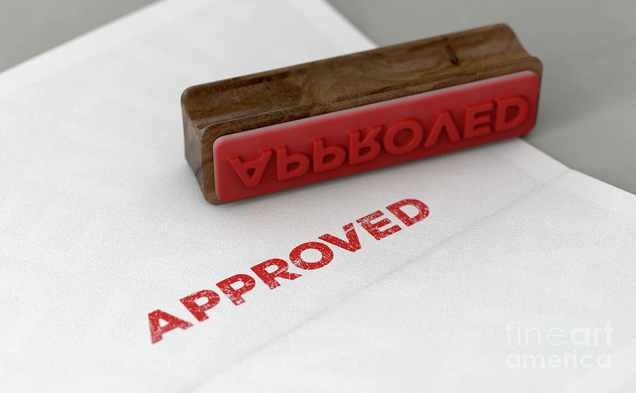 Approve Digital Art - Approved Stamp And Form by Allan Swart