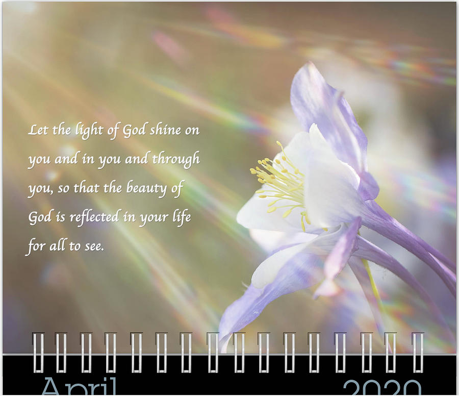 April 2020 Inspirational Calendar Preview by Joni Eskridge
