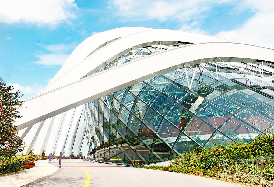 Corridor Photograph - April 6, 2014  Singapore. Building In by Anna Klepatckaya
