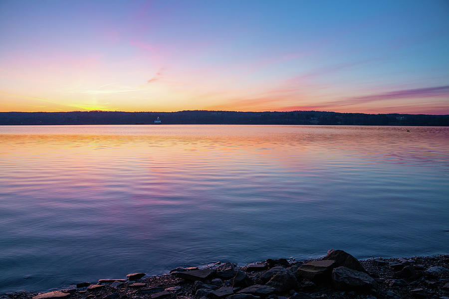Hudson River Photograph - April Dawn On The Hudson River I by Jeff Severson