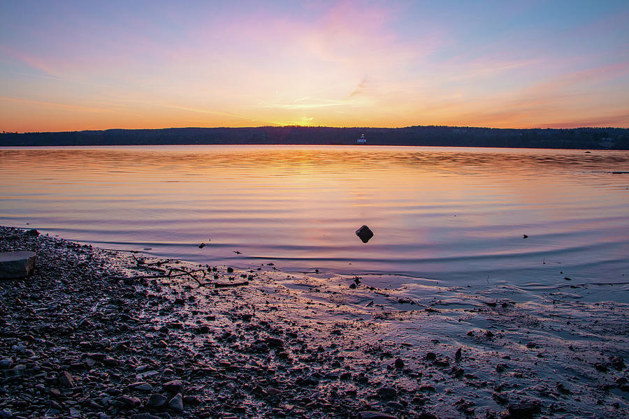 Hudson River Photograph - April Dawn on the Hudson River II by Jeff Severson