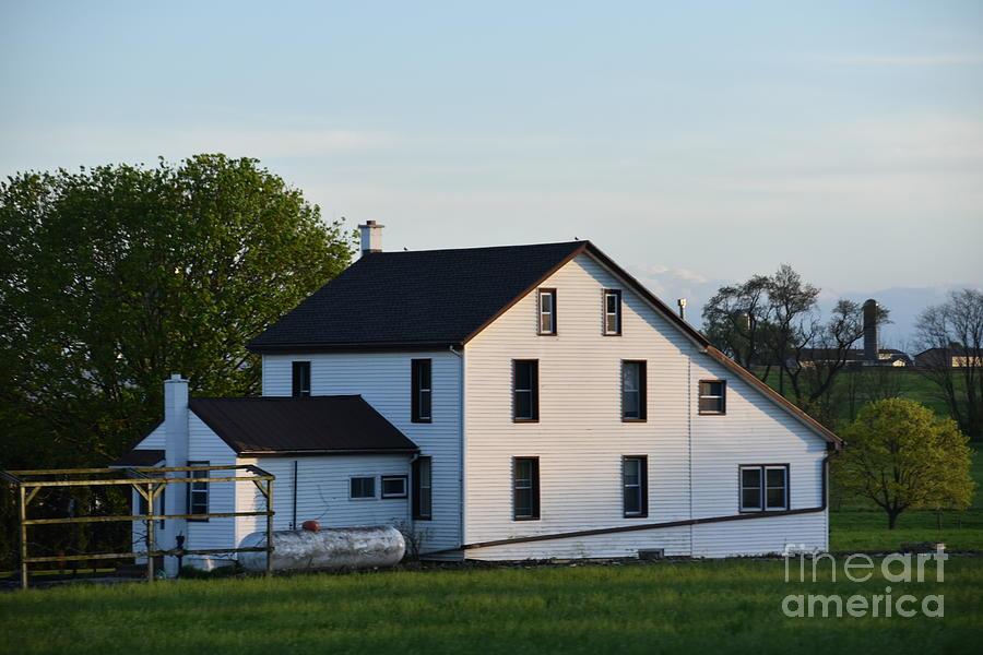 April Farmhouse by Christine Clark