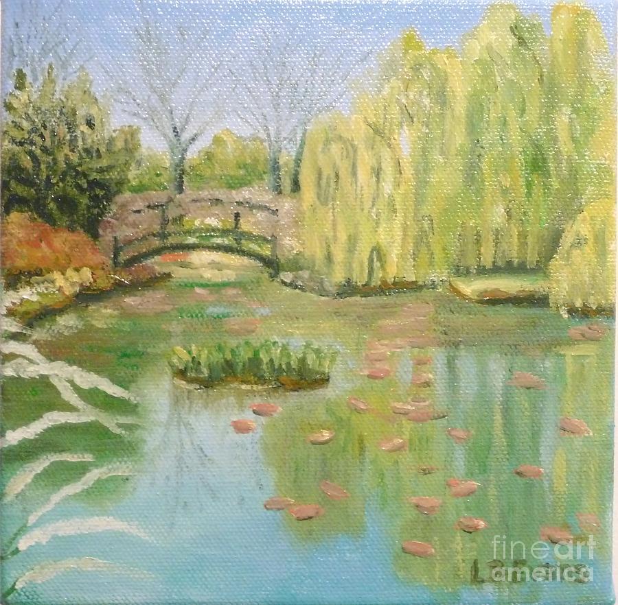 April In Monets Garden by Lynda Evans