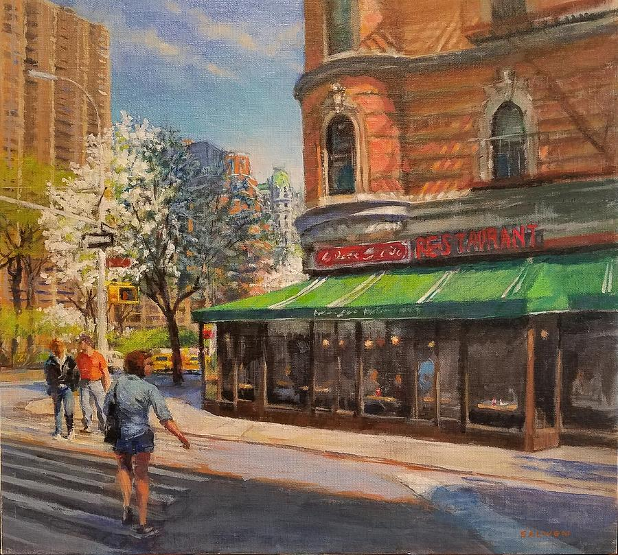 Urban Landscape Paintings Painting - April Morning On Broadway by Peter Salwen