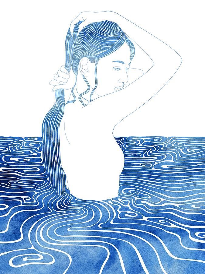 Aqua Mixed Media - Apseudes by Stevyn Llewellyn