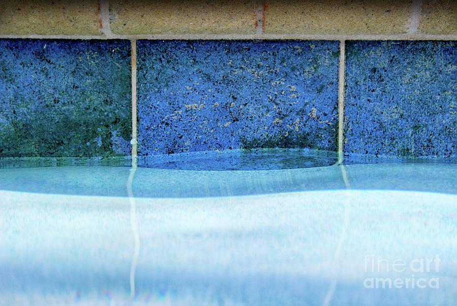 Aqua Agua Abstract Four by Karen Adams