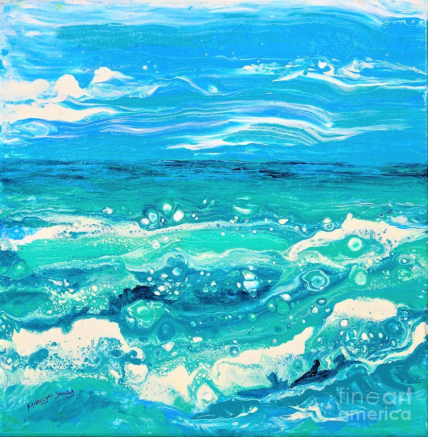 Aqua Seafoam by Marilyn Young
