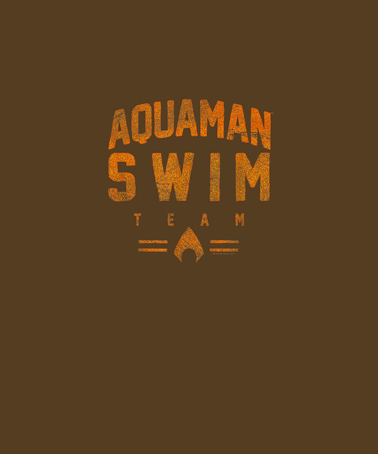 Aquaman Digital Art - Aquaman Swim Team T Shirt by Unique Tees