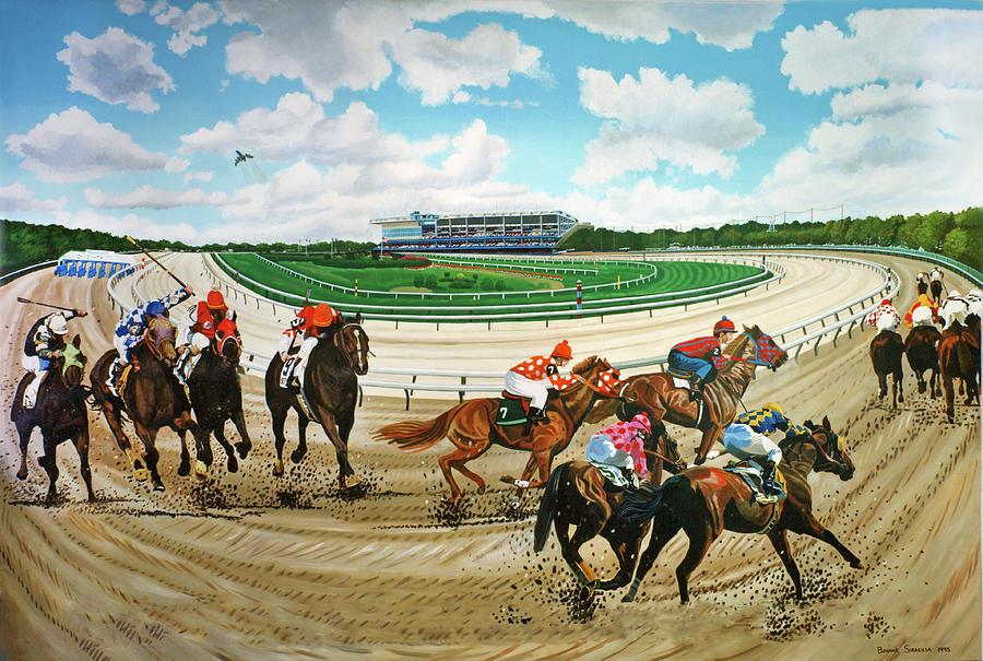 Aqueduct Race Track by Bonnie Siracusa