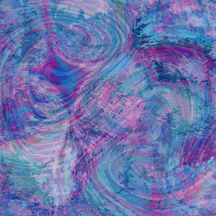Nonobjective Digital Art - Aqueous Meditations #01 by James Fryer