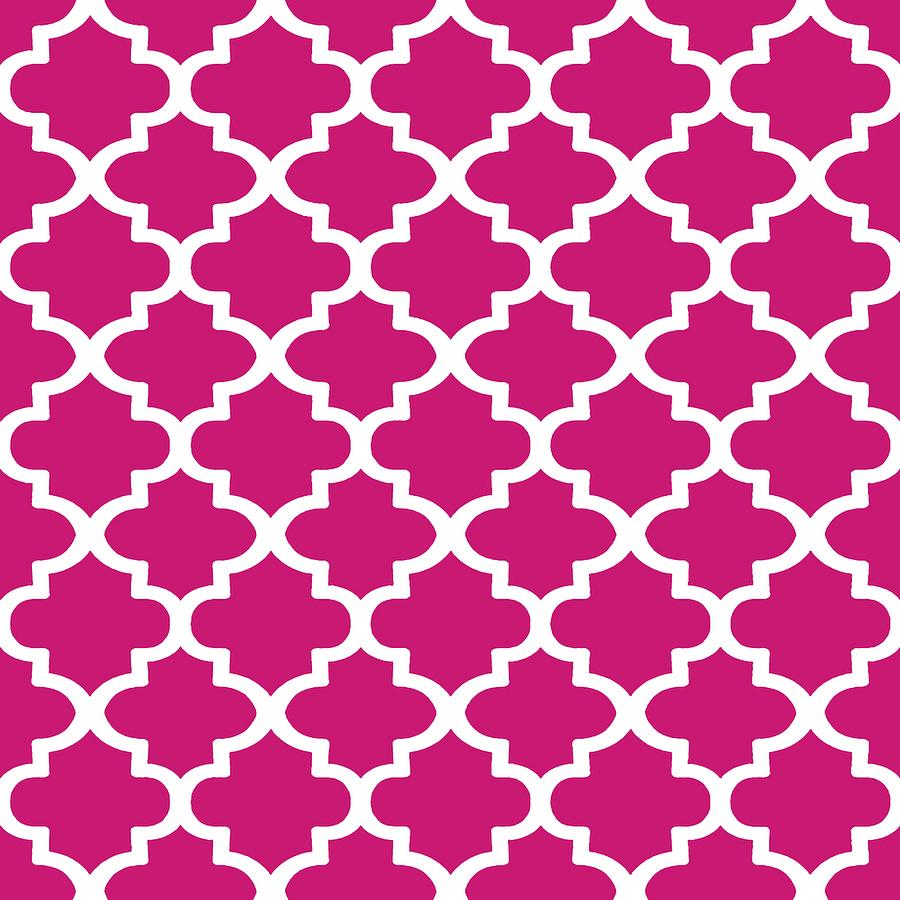 Arabesque Architecture Pattern In Dull Pink by Taiche Acrylic Art