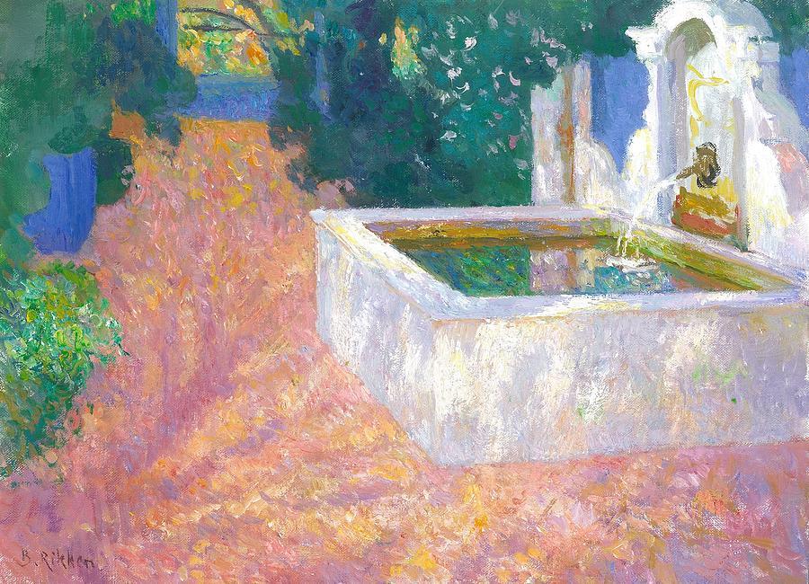 Arabian Painting - Arabian Fountain At The Albarda Garden by Ben Rikken