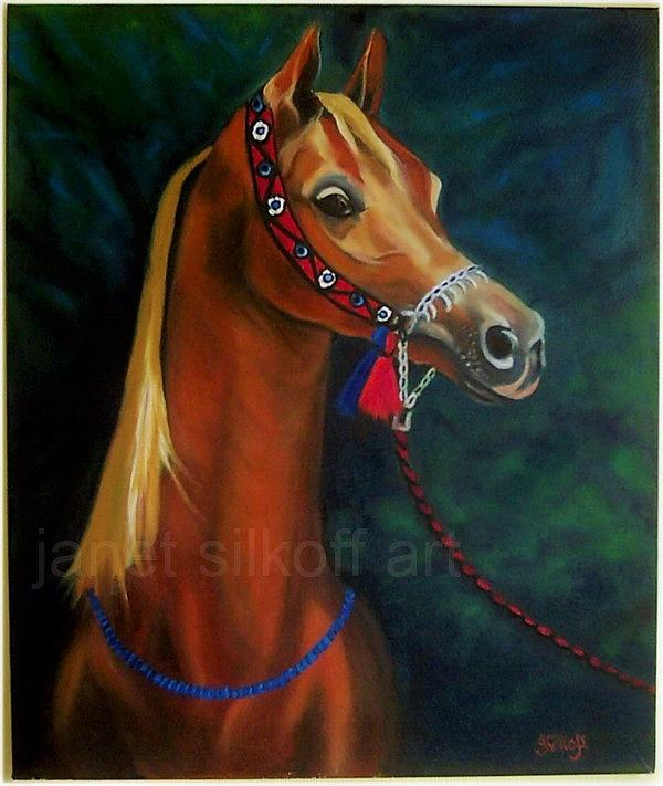 Horse Painting - Arabian Horse by Janet Silkoff