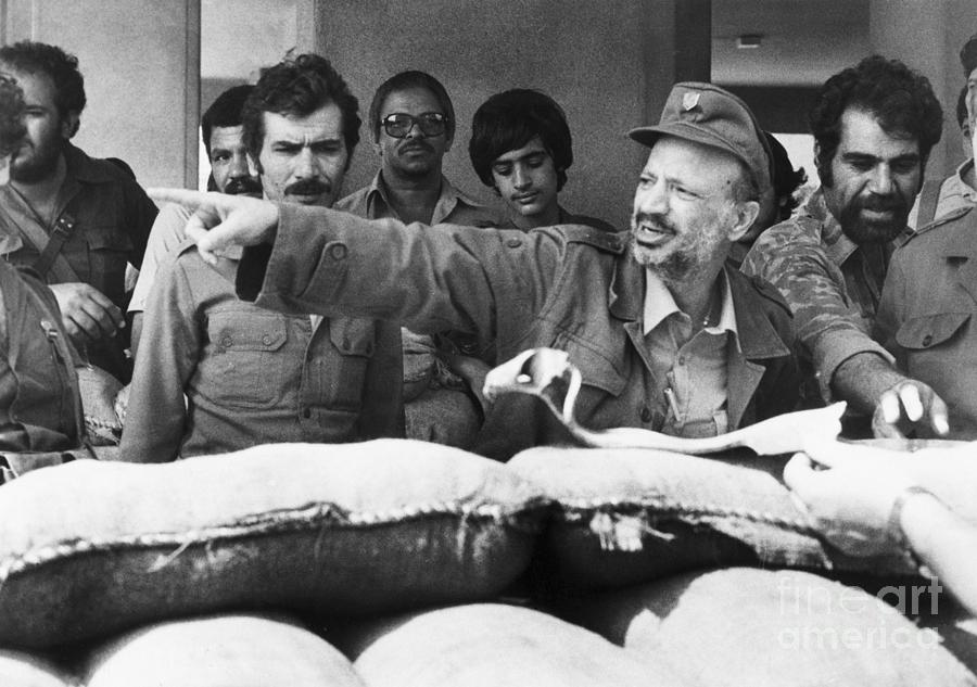 Arafat Giving Directions To Plo Soldiers Photograph by Bettmann