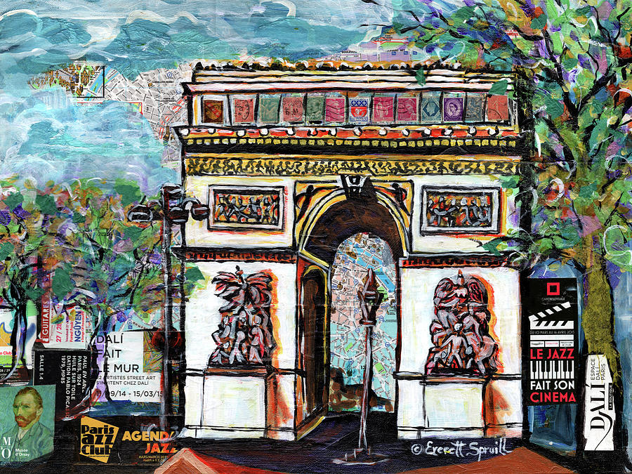 Arc de Triomphe  by Everett Spruill