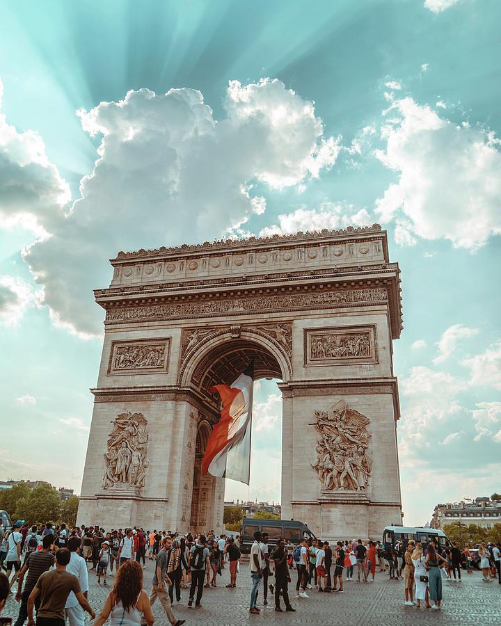 Paris Photograph - Arc De Triomphe - World Cup 2018 by Lucio Cavalcanti