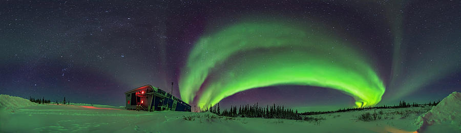 Arc Of The Auroral Oval And The Winter by Alan Dyer