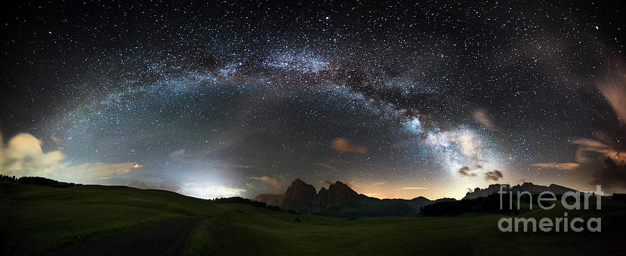 Arc Of The Milky Way - Panorama Xxl Photograph by Scacciamosche