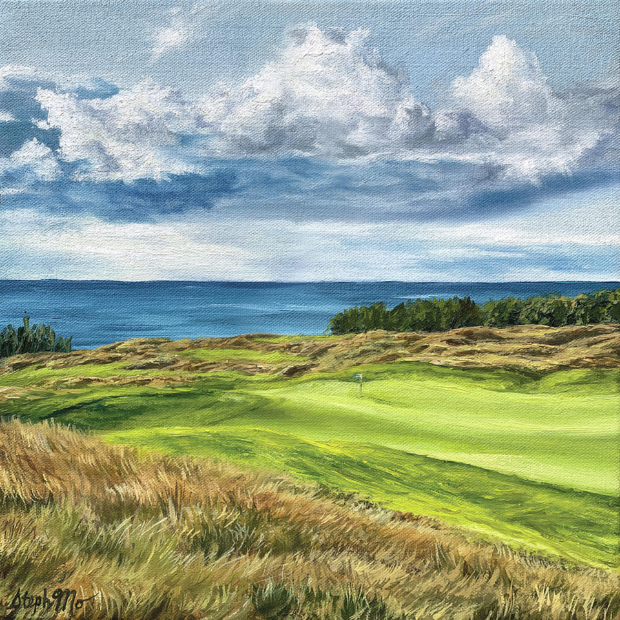 Arcadia Painting - Arcadia Bluffs by Steph Moraca