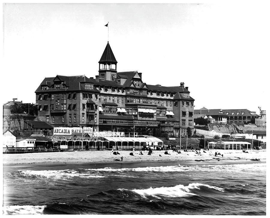 Arcadia Hotel On Santa Monica Beach Photograph by American Stock Archive