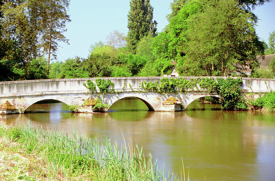 Arch Bridge Over A River, Montresor Photograph by Medioimages/photodisc