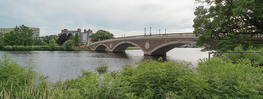 Horizontal Photograph - Arch Bridge Over River, Cambridge by Panoramic Images