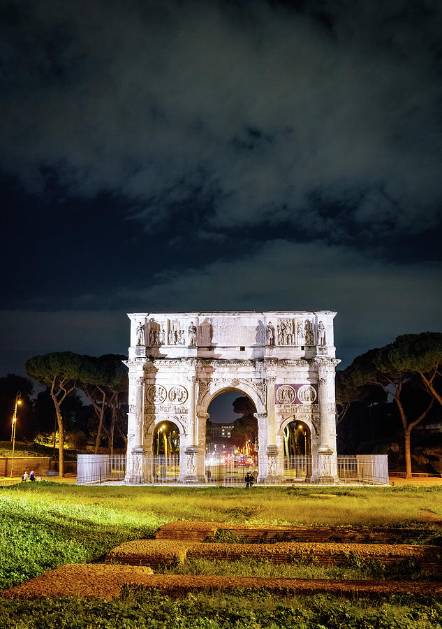 Arch Of Constantine In Rome Photograph