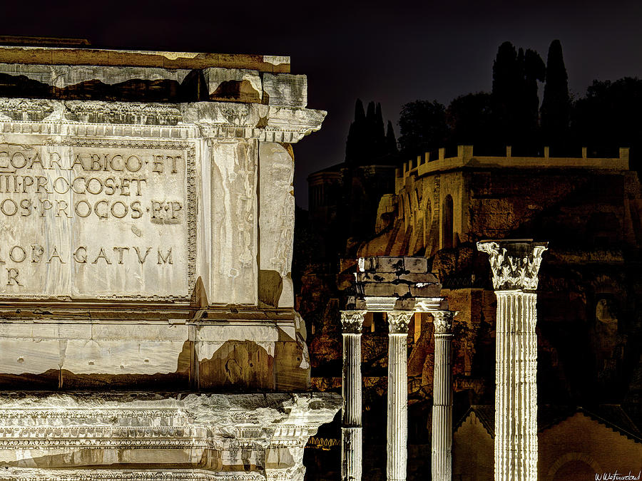 Arch of Septimius Severus at night by Weston Westmoreland