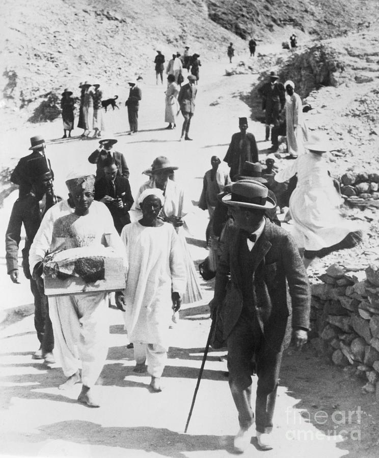 Archaeologist Howard Carter At Tomb Photograph by Bettmann