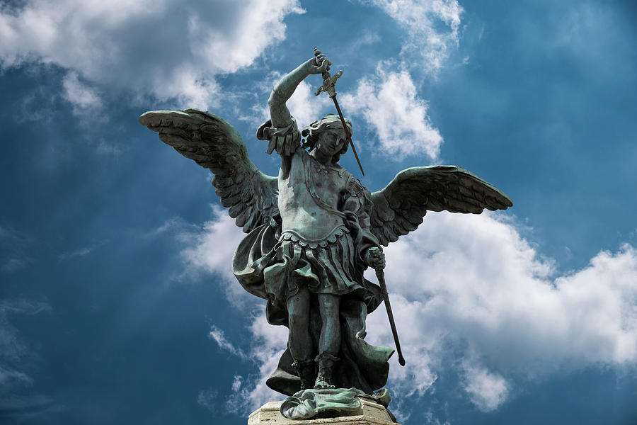 Archangel Photograph - Archangel Michael, Sant Angelo by Razvan Lungu