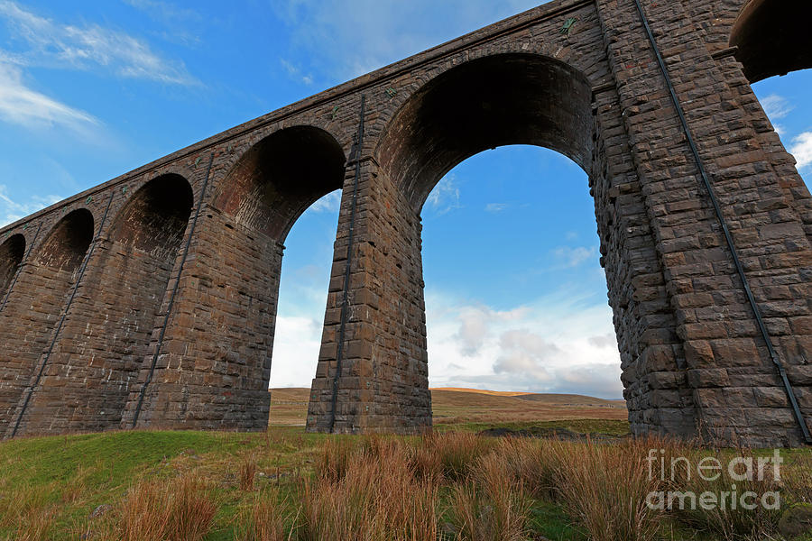 Ribblehead Viaduct Photograph - Arches And Piers Of The Ribblehead Viaduct North Yorkshire by Louise Heusinkveld