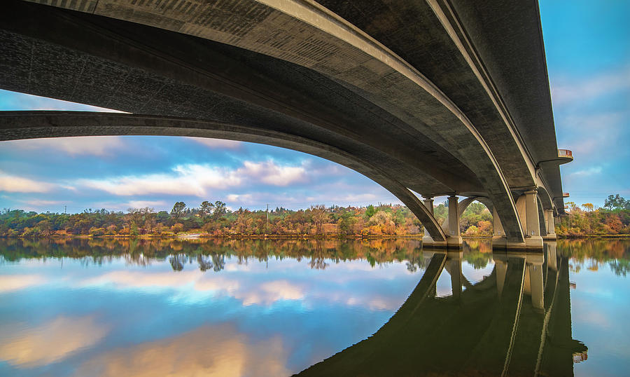 Arch Photograph - Arches of Lake Natoma by Jonathan Hansen