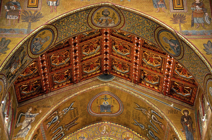Arches, vault and mosaics in the Cathedral of Monreale #1 by RicardMN Photography