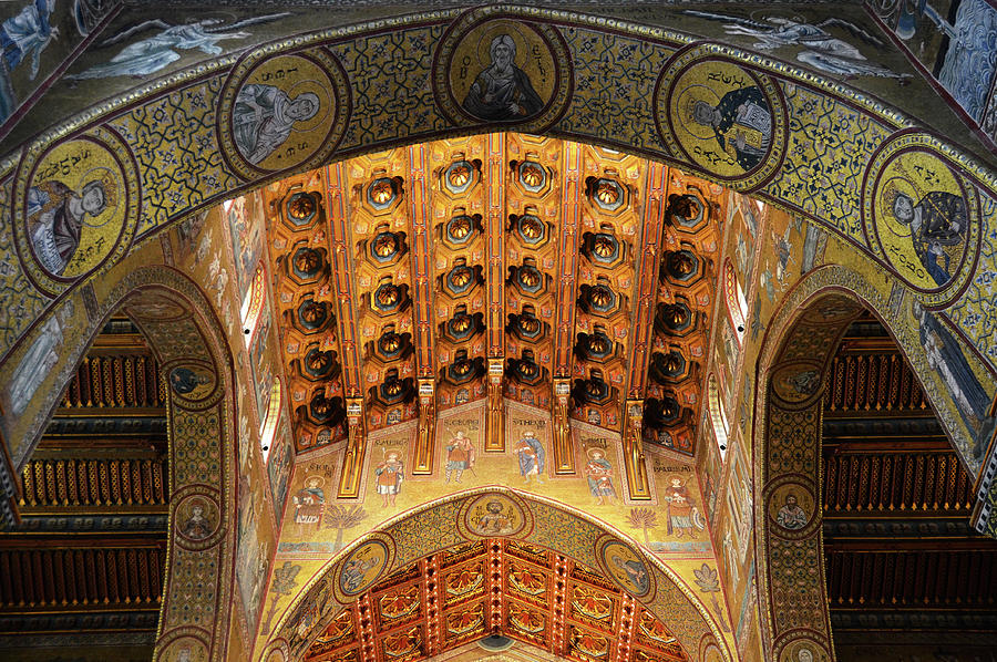 Arches, vault and mosaics in the Cathedral of Monreale #2 by RicardMN Photography