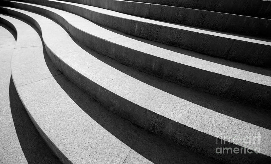 Concrete Photograph - Architectural Design Of Stairs by 4max