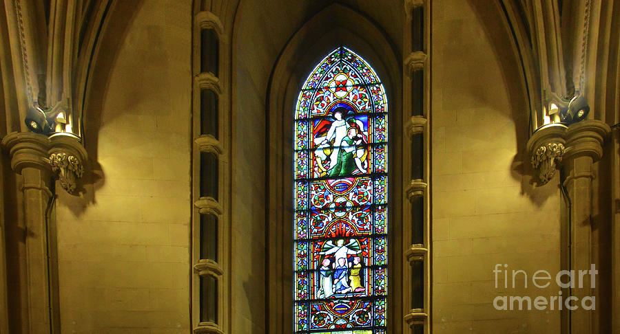 Architectural Detail and Stained Glass, Christ Church Cathedral, Dublin by Rebecca Carr