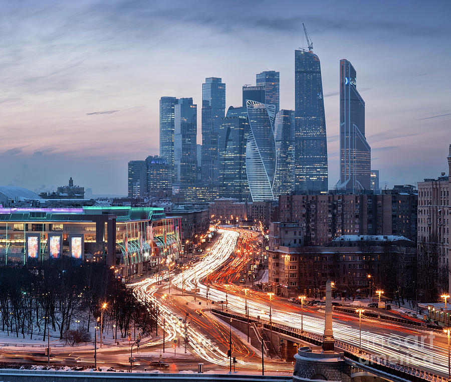 Architectural Diversity In Moscow Photograph by Sergey Alimov