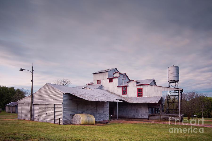 Architectural Photograph of the Burton Cotton Gin Museum - Washington County Burton Brenham Texas by Silvio Ligutti