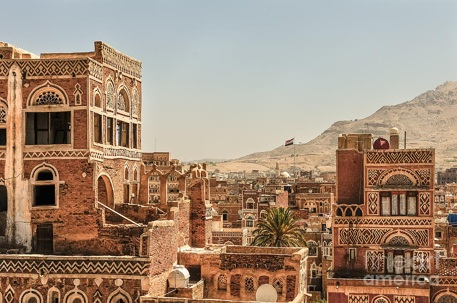 Old Photograph - Architecture In Yemen by Mohannad Khatib