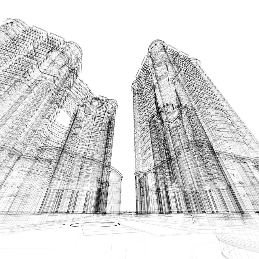 Architecture Sketch Photograph by Teekid
