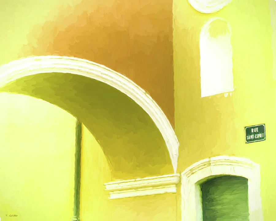 Yellow Photograph - Archway At Antibes by Tony Grider