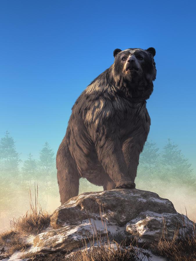 Arctodus, The Short Faced Bear Digital Art